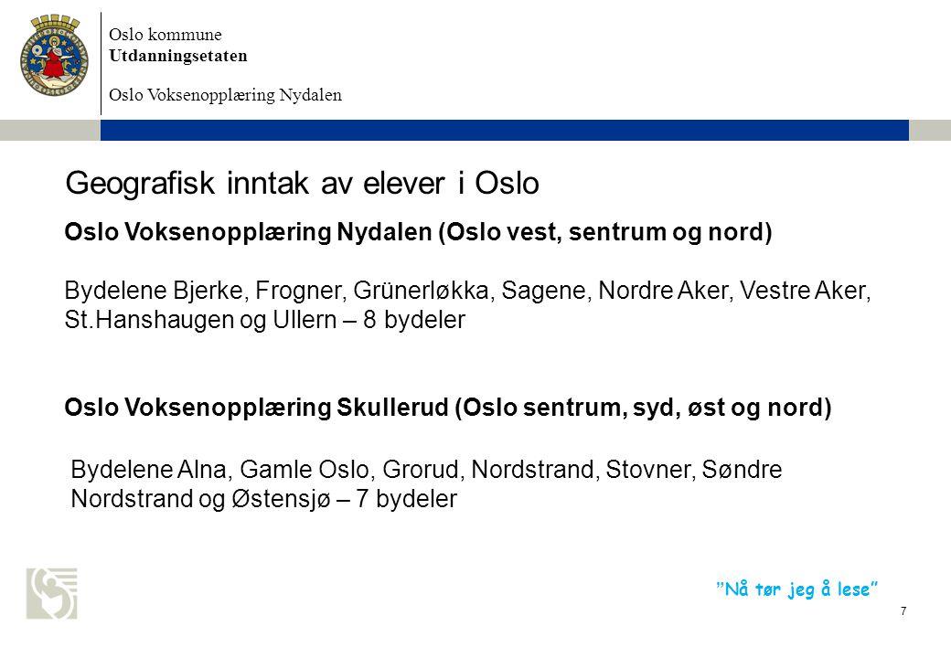 Oslo kommune Utdanningsetaten Oslo Voksenopplæring Nydalen 8 Opplæringsloven § 4A-1 Rett til grunnskoleopplæring for vaksne Dei som er over opplæringspliktig alder, og som treng grunnskoleopplæring, har rett til slik opplæring, så langt dei ikkje har rett til vidaregåande opplæring etter § 3-1.