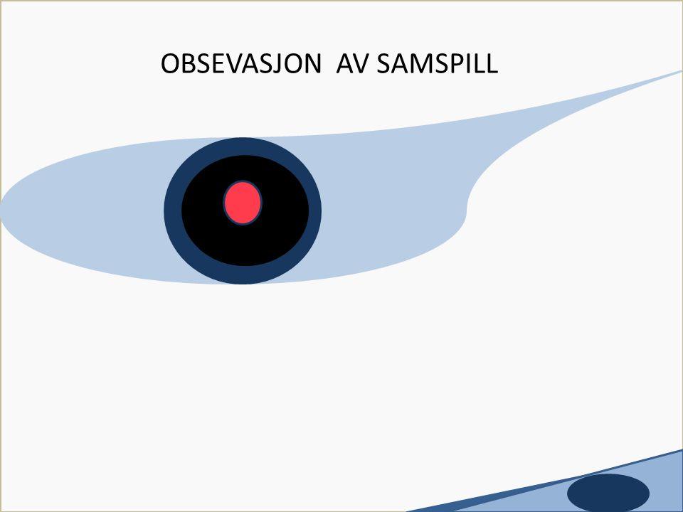 Utviklet av Tove Flack c OBSEVASJON AV SAMSPILL