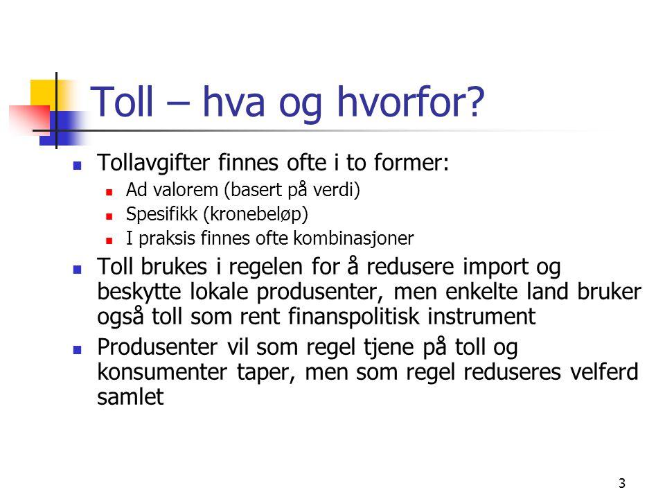 4 Finnes økonomisk holdbare argumenter for toll.