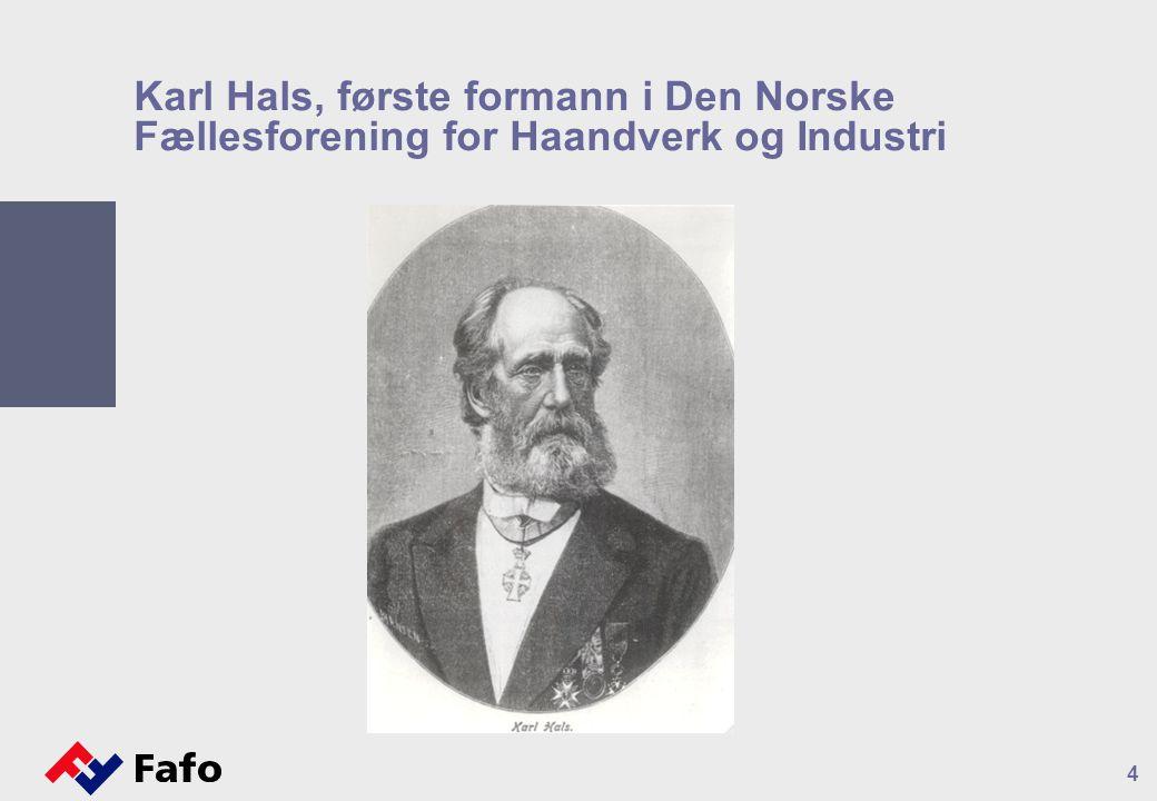 Karl Hals, første formann i Den Norske Fællesforening for Haandverk og Industri 4