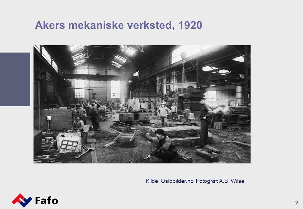 Akers mekaniske verksted, 1920 5 Kilde: Oslobilder.no. Fotograf: A.B. Wilse