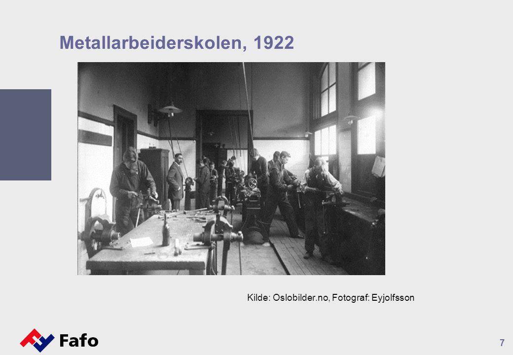 Metallarbeiderskolen, 1922 7 Kilde: Oslobilder.no, Fotograf: Eyjolfsson