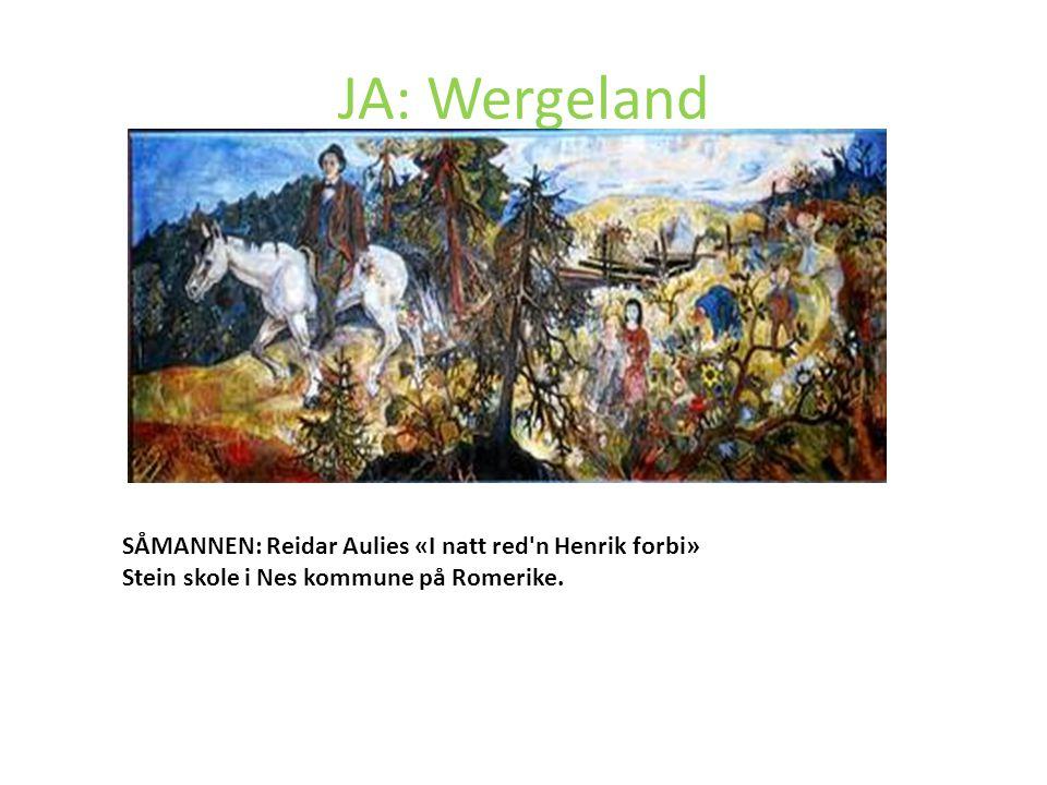 JA: Wergeland Wergeland agiterte «For Almuen» «For Arbeidsklassen» Forslag til bokbestand, lover osv.