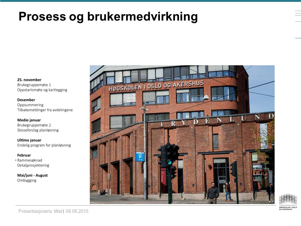 Brukermedvirkning og medbestemmelse Presentasjonens tittel08.06.2015