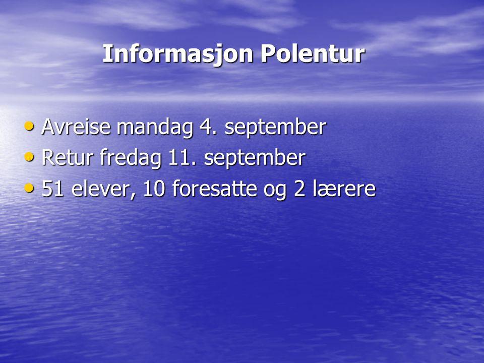 Reiserute Avreise fra ÅUS kl.07.00 Avreise fra ÅUS kl.
