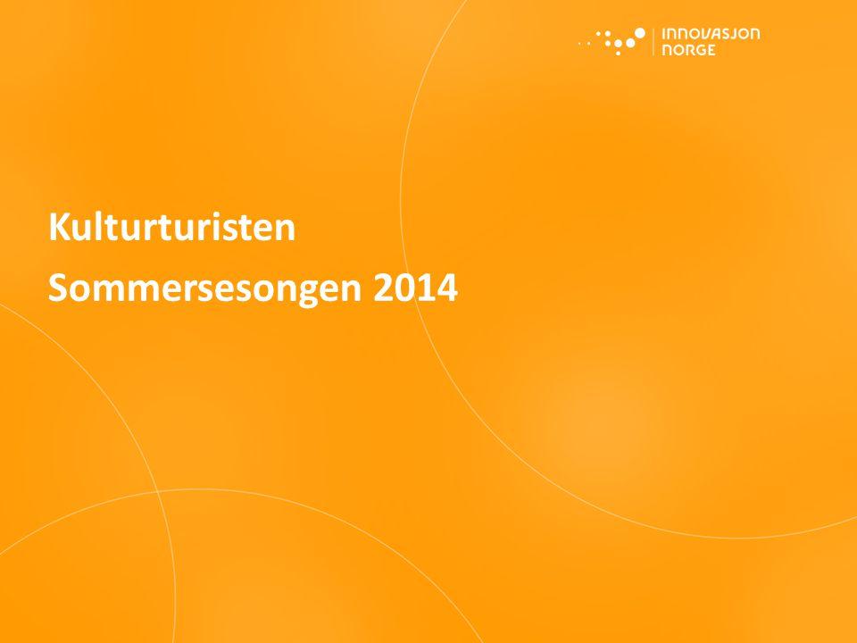 Kilde: Turistundersøkelsen, sommersesongen 2014. Innovasjon Norge