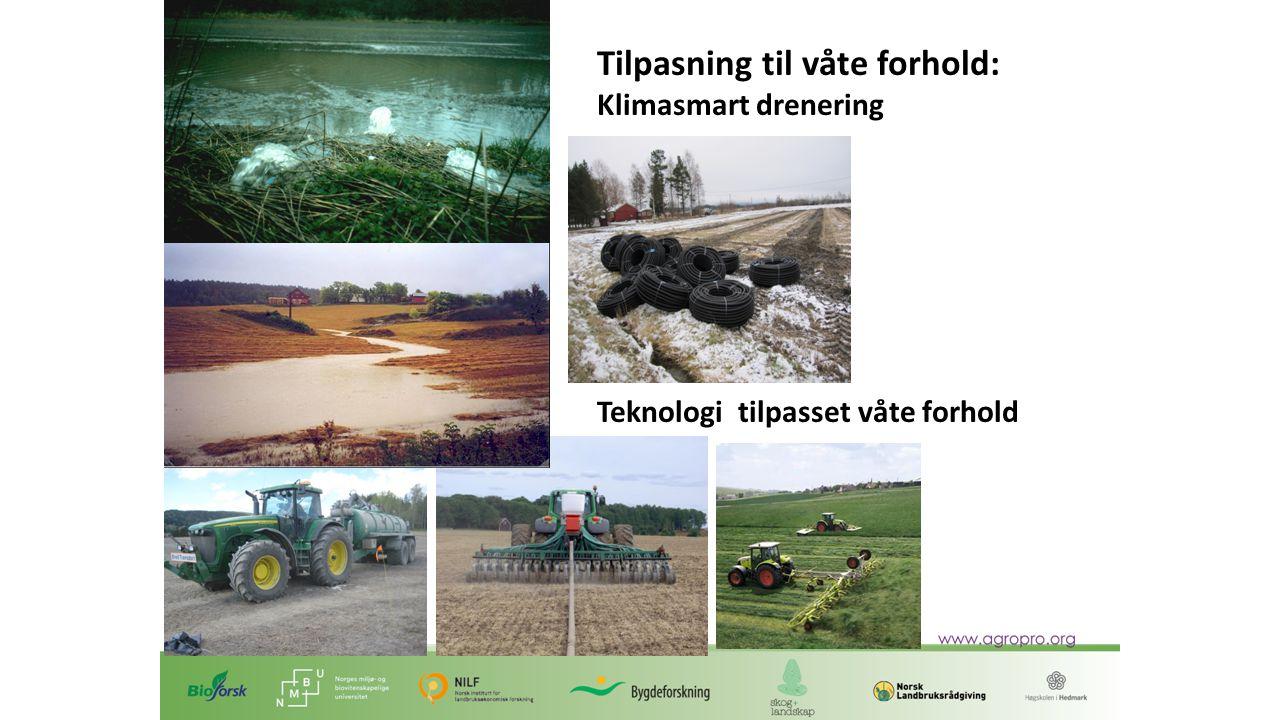 Tilpasning til våte forhold: Klimasmart drenering Teknologi tilpasset våte forhold