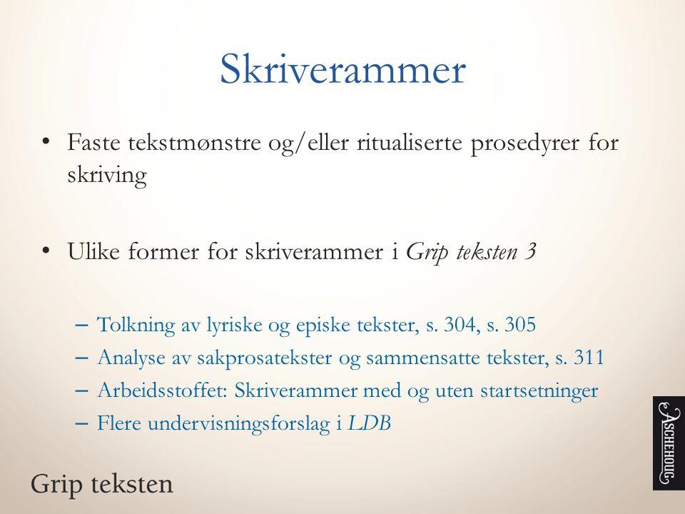 Analyse av sakprosa – deløvelse og skriveramme Ingvar Ambjørnsen: «Klikk deg dum», tekst s.