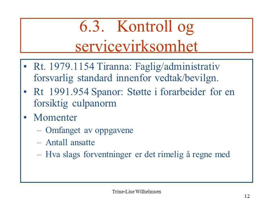 Trine-Lise Wilhelmsen 12 6.3. Kontroll og servicevirksomhet Rt.