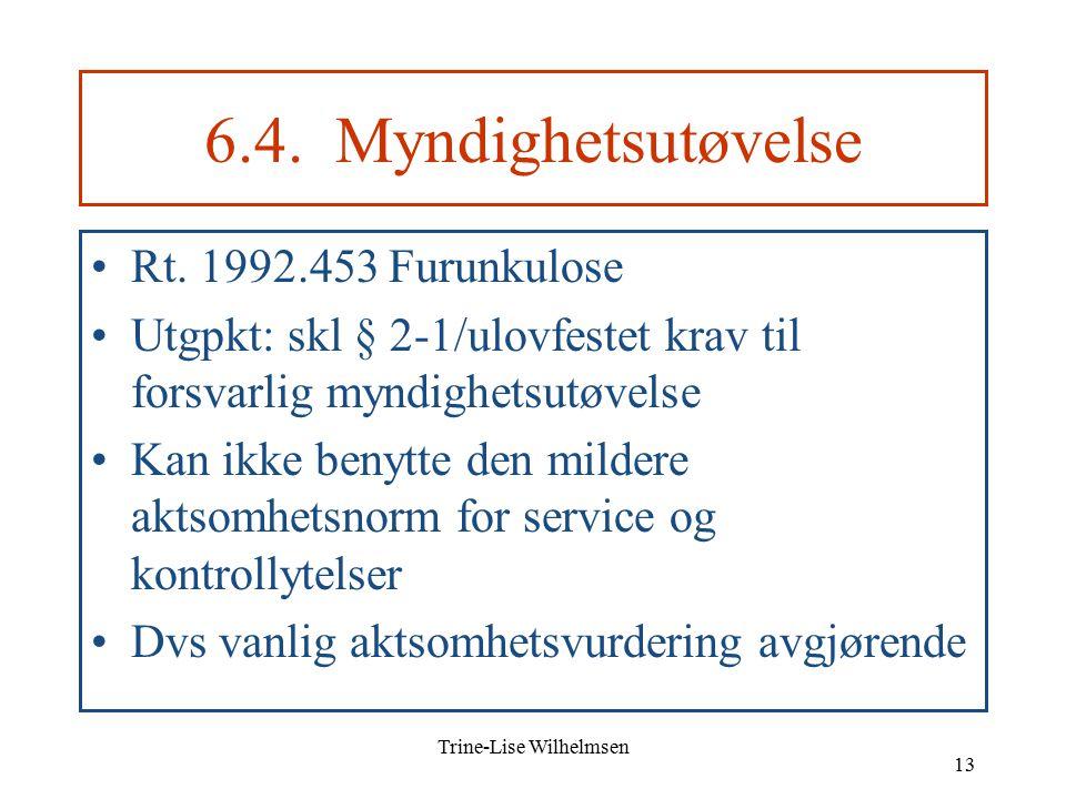 Trine-Lise Wilhelmsen 13 6.4. Myndighetsutøvelse Rt.