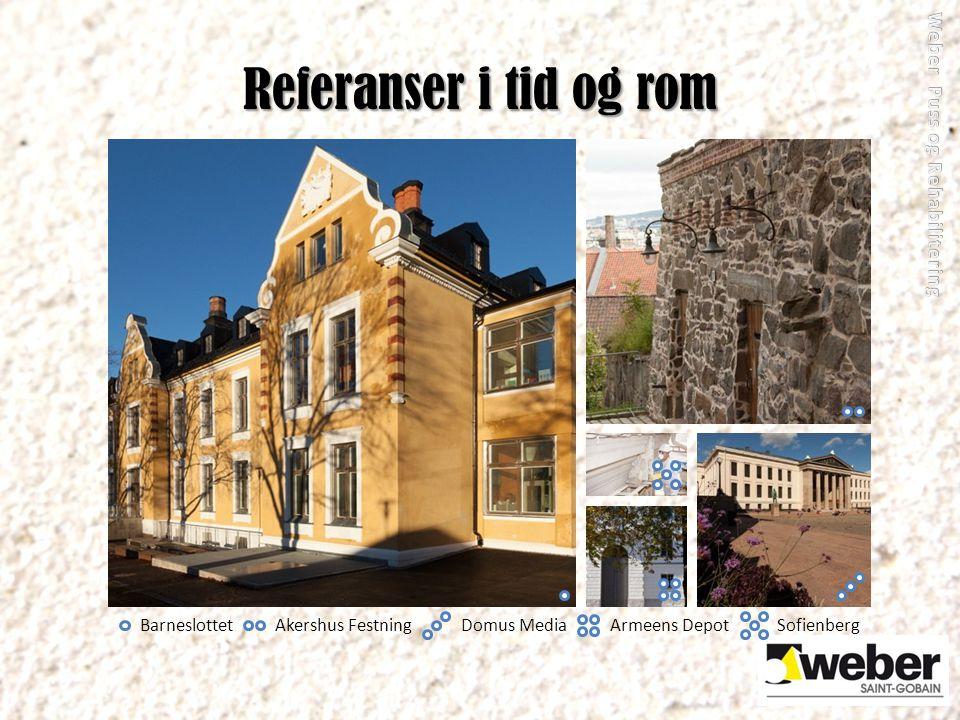 Referanser i tid og rom BarneslottetAkershus FestningDomus MediaArmeens DepotSofienberg