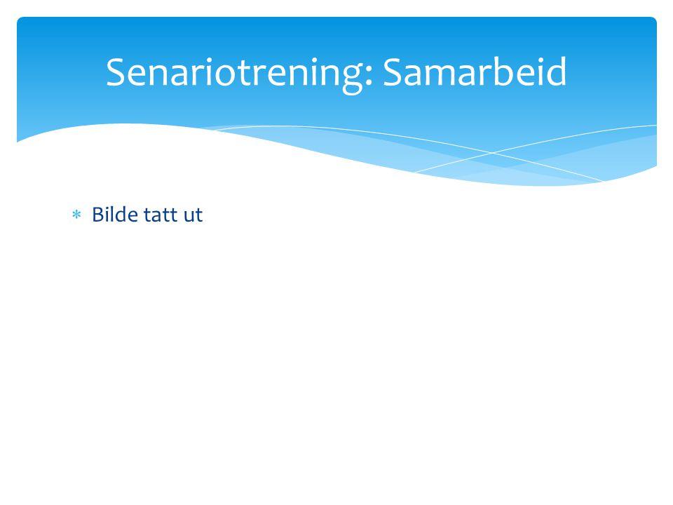 Senariotrening: Samarbeid  Bilde tatt ut
