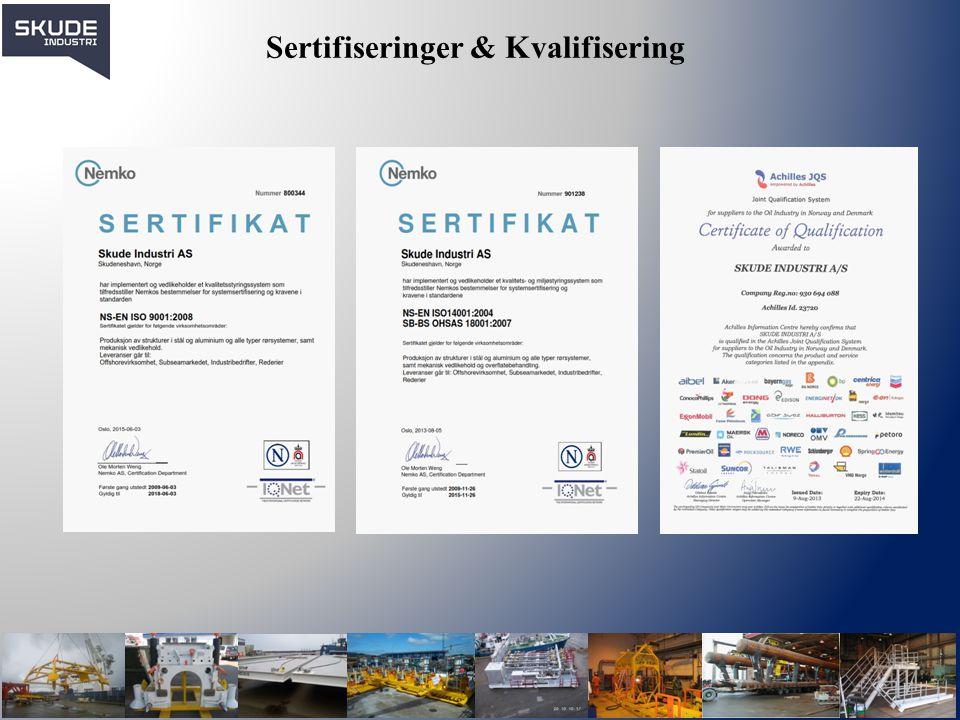Sertifiseringer & Kvalifisering
