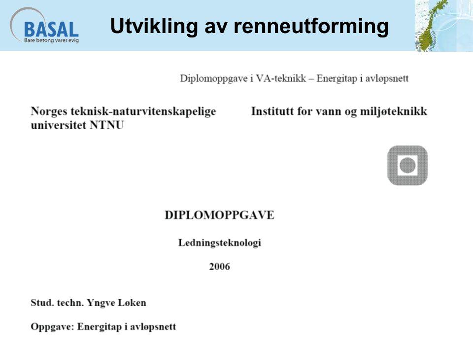 Utvikling av renneutforming