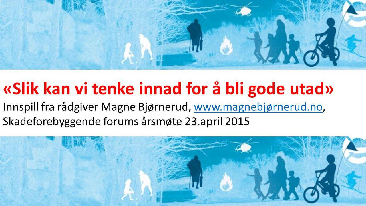 «Slik kan vi tenke innad for å bli gode utad» Innspill fra rådgiver Magne Bjørnerud, www.magnebjørnerud.no,www.magnebjørnerud.no Skadeforebyggende for