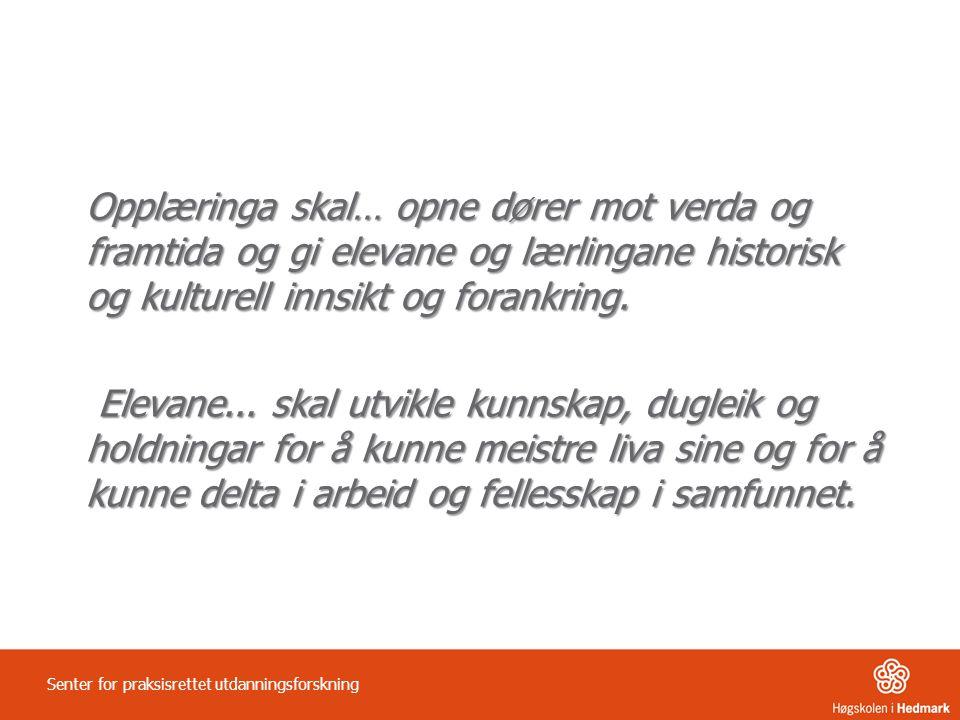 Definisjonen av begrepet læringsmiljø Senter for praksisrettet utdanningsforskning