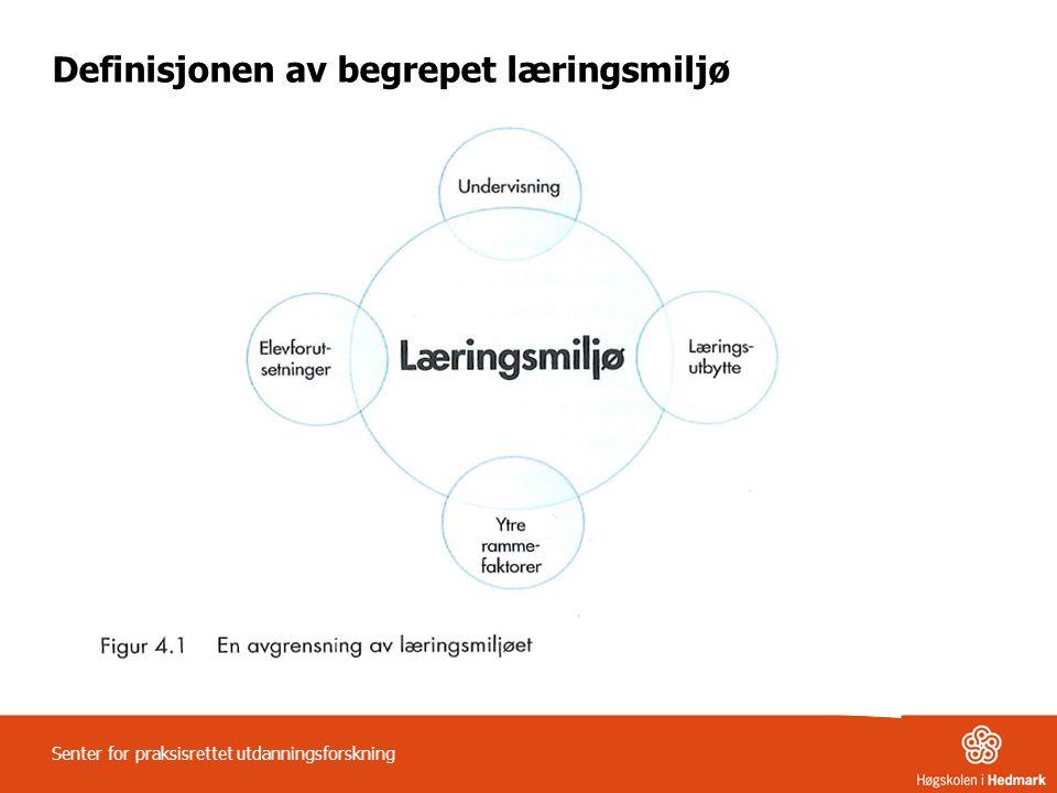 Fem grunnleggende forhold for å utvikle og opprettholde gode læringsmiljø: 1.