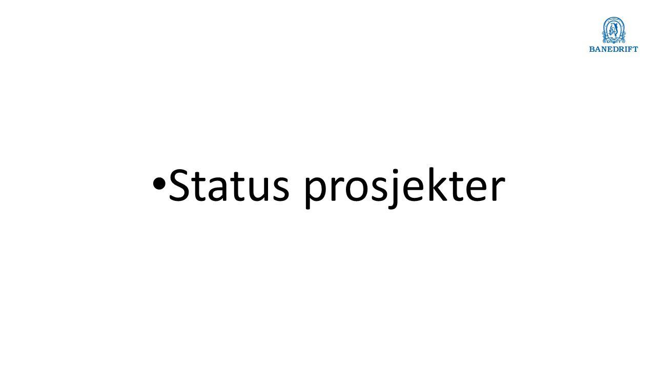 Status prosjekter