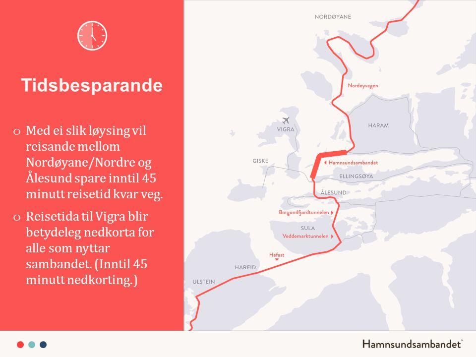 Byutvikling o Saman med Borgundfjord – tunnelen, Veddemarks- tunnelen og Nordøyvegen vil Hamnsundsambandet gje viktig næring til Ålesund.