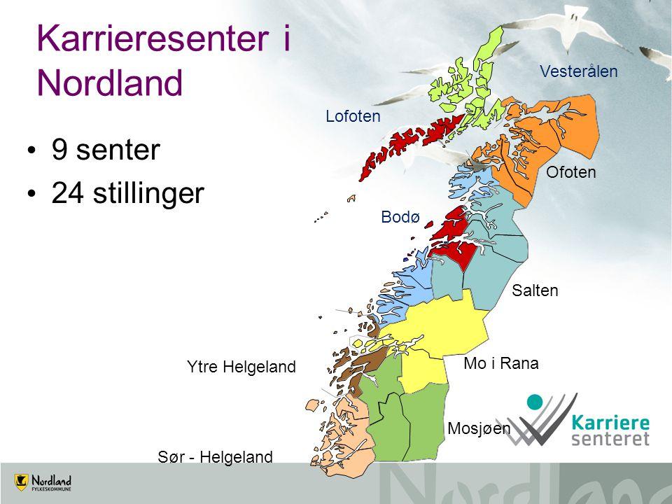 9 senter 24 stillinger Karrieresenter i Nordland Lofoten Vesterålen Sør - Helgeland Bodø