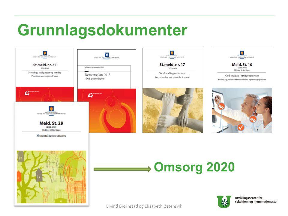 Grunnlagsdokumenter Omsorg 2020 Eivind Bjørnstad og Elisabeth Østensvik