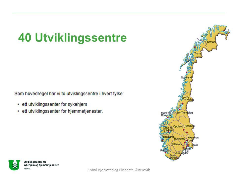40 Utviklingssentre Eivind Bjørnstad og Elisabeth Østensvik