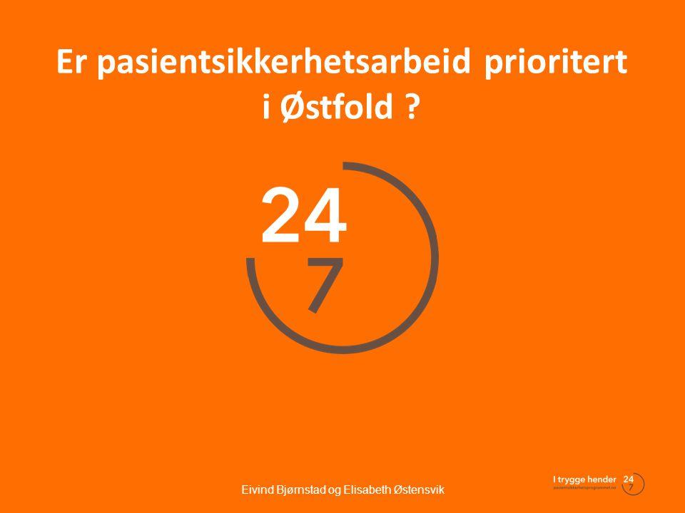 Er pasientsikkerhetsarbeid prioritert i Østfold ?