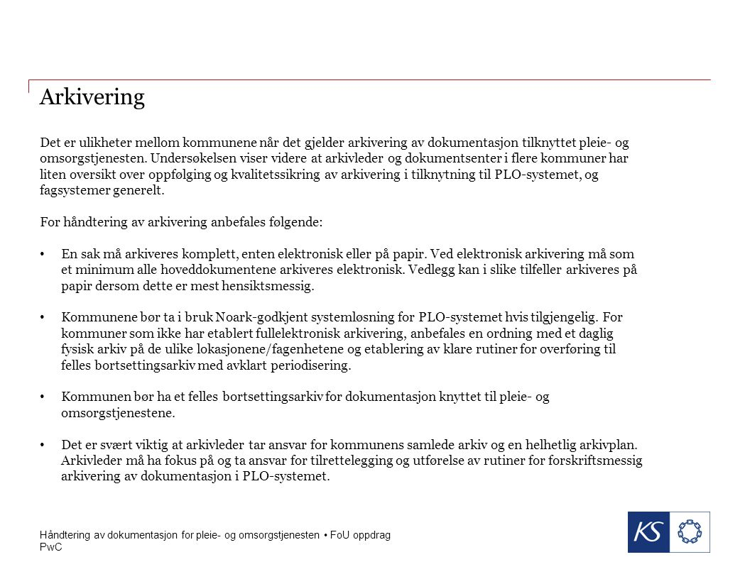 PwC 6 mars 2015 Arkivering forts.
