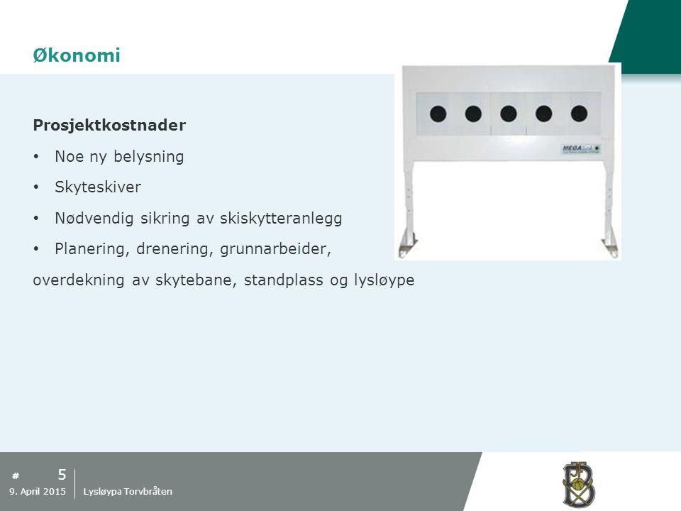 # Økonomi Finansiering  Langrennsløyper (STUI-midler)  Skytebane (STUI-midler)  Skileik (nærmiljø-midler)  Egenkapital  Sponsorer/Rabatter 6 9.