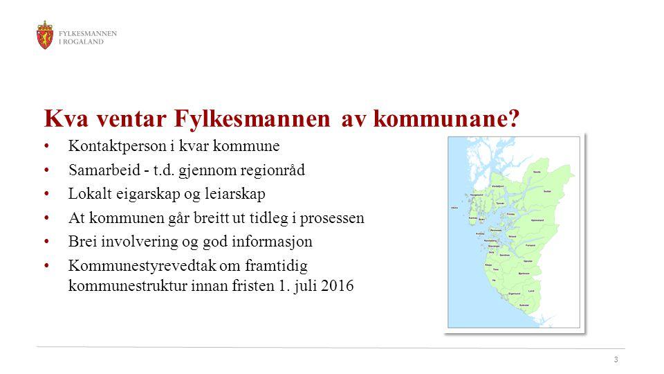 3 Kva ventar Fylkesmannen av kommunane. Kontaktperson i kvar kommune Samarbeid - t.d.