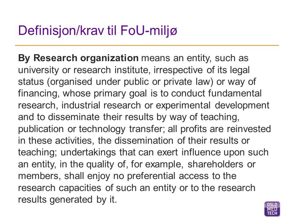 HVA kan det søkes støtte til… Tekniske forstudier Eksperimentell utvikling Industriell forskning