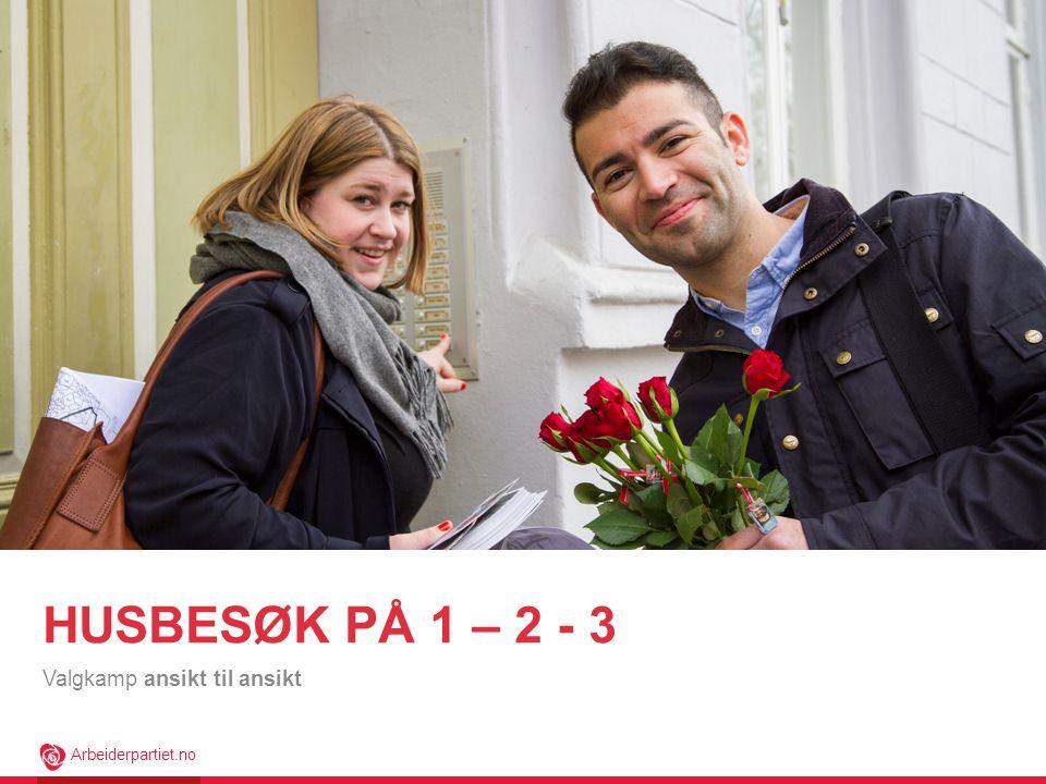 Arbeiderpartiet.no HUSBESØK PÅ 1 – 2 - 3 Valgkamp ansikt til ansikt
