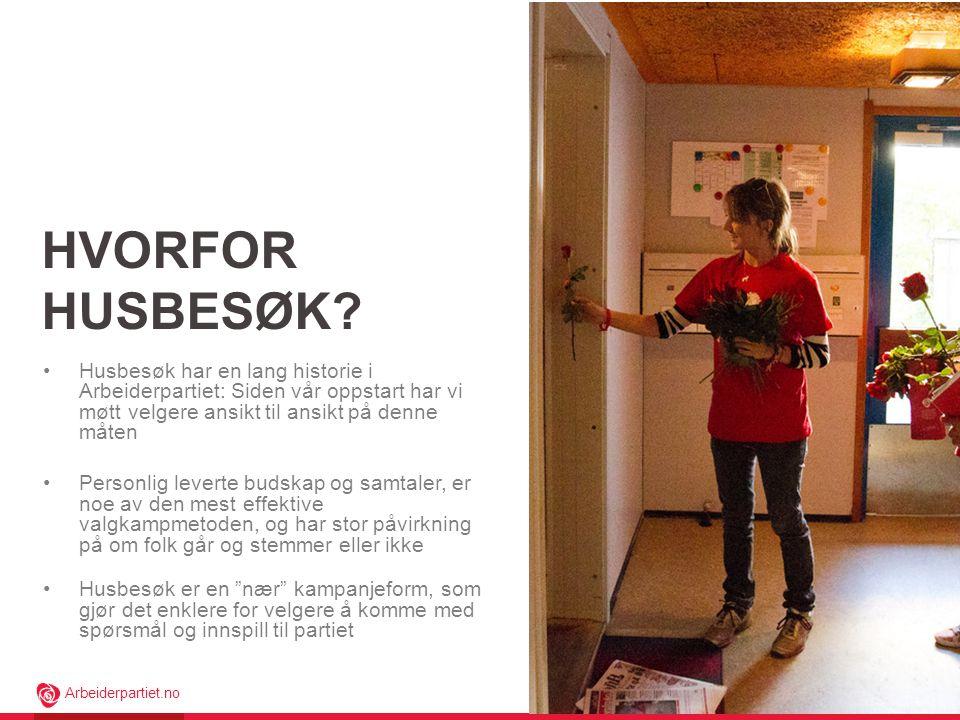 Arbeiderpartiet.no HVORFOR HUSBESØK.