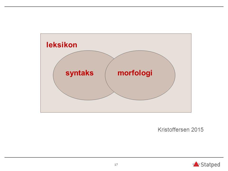 17 leksikon syntaksmorfologi Kristoffersen 2015