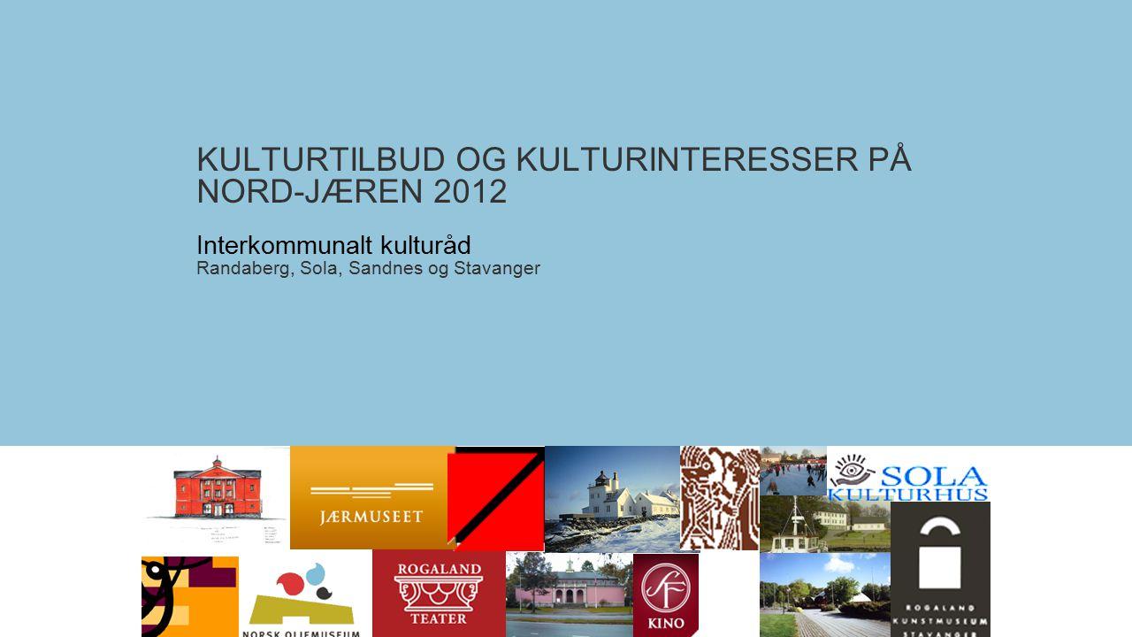 KULTURTILBUD OG KULTURINTERESSER PÅ NORD-JÆREN 2012 Interkommunalt kulturåd Randaberg, Sola, Sandnes og Stavanger