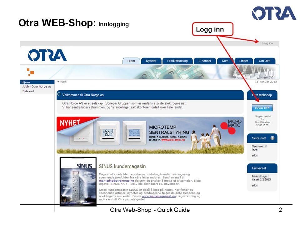 Otra Web-Shop - Quick Guide23 Otra WEB-Shop: Hyllekant etiketter Etiketter tilpasset perforerte ark