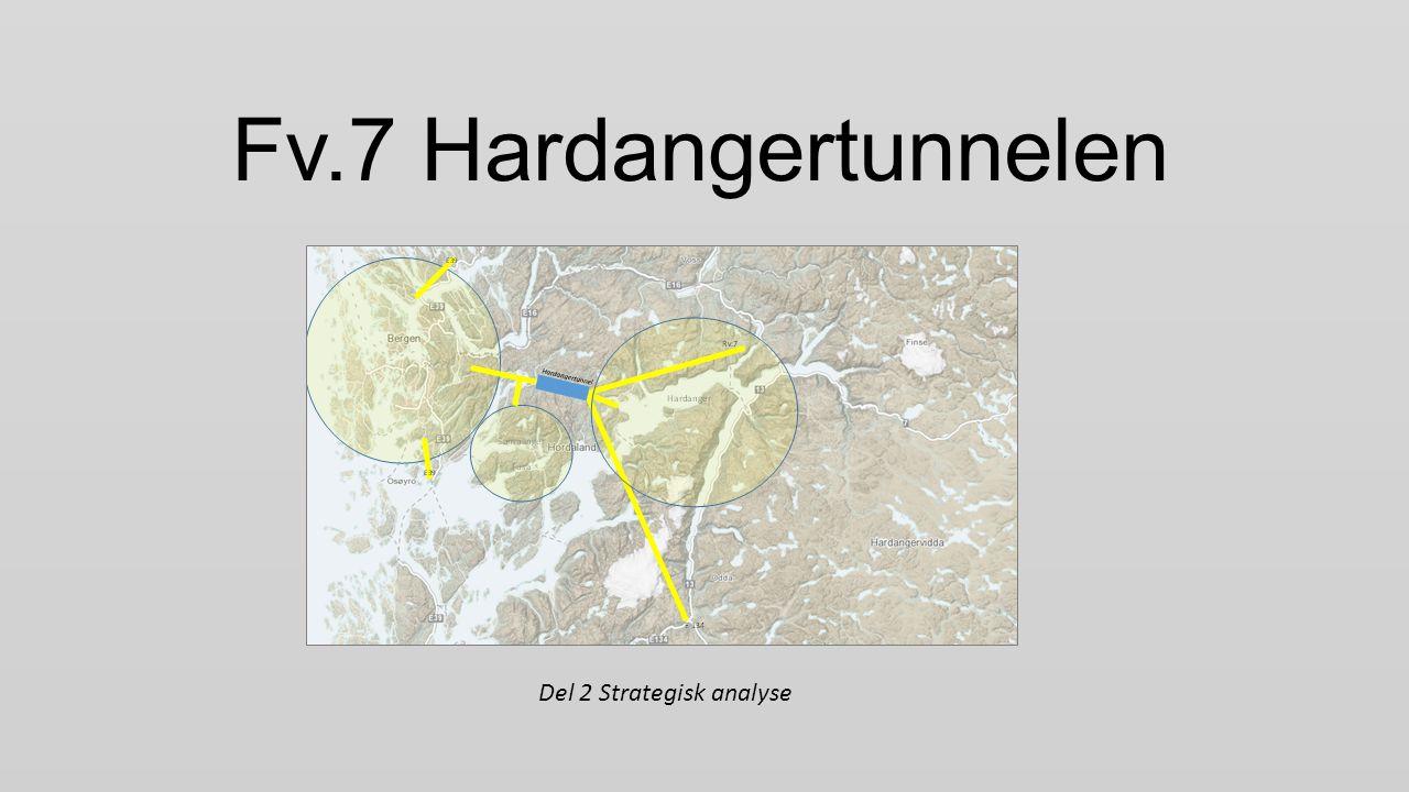 Dagens hovudvegnett Riksvegar Fylkesvegar Jondal Arna Trengereid Tysse Os Eikelandsosen Gjerdmundshamn Granvin Norheimsund Tørvikbygd Årsnes Fv.49 Fv.48 Rv.7 E39 E134 Venjaneset Hatvik Fv.7 E16 Nesttun