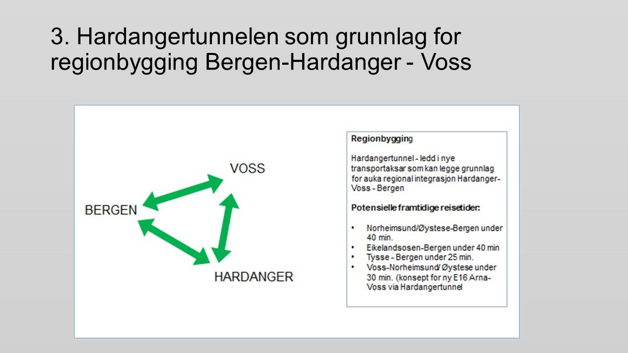 3. Hardangertunnelen som grunnlag for regionbygging Bergen-Hardanger - Voss