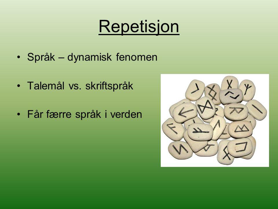 Språk Urspråk En språkfamilie er en gruppe språk som er i slekt med hverandre Den indoeuropeiske språkfamilien Flere ulike grupper i en språkfamilie Samisk – en del av en gruppe finsk-ugriske språk i den uralske språkfamilien.
