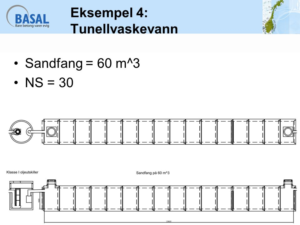 Sandfang = 60 m^3 NS = 30