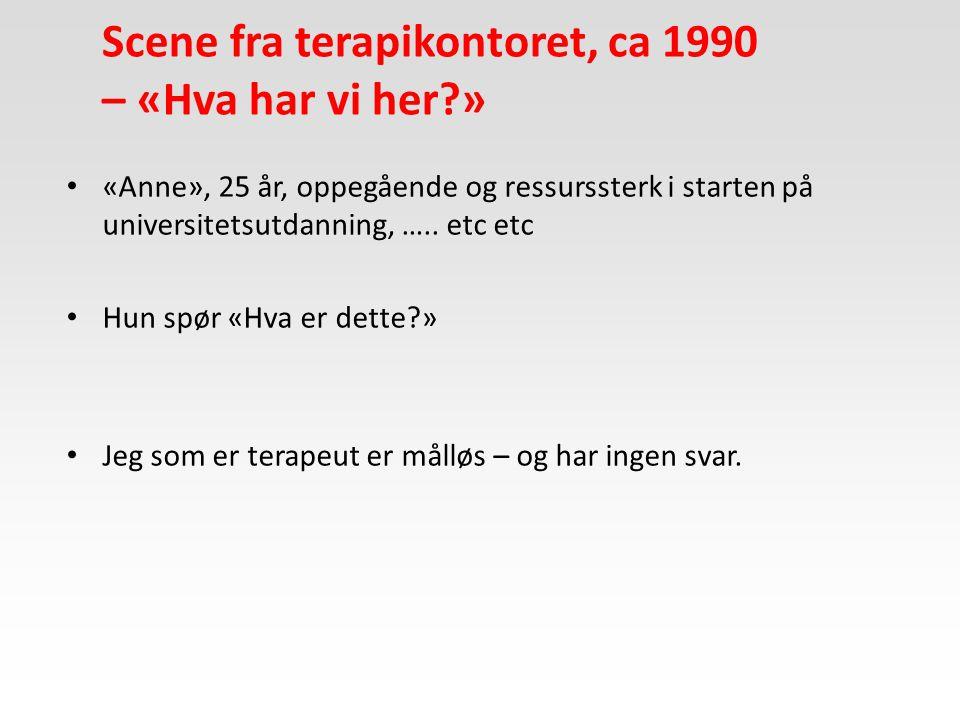Stress-sårbarhetsmodellen (Zubin & Spring, 1976) Arv eller miljø ?