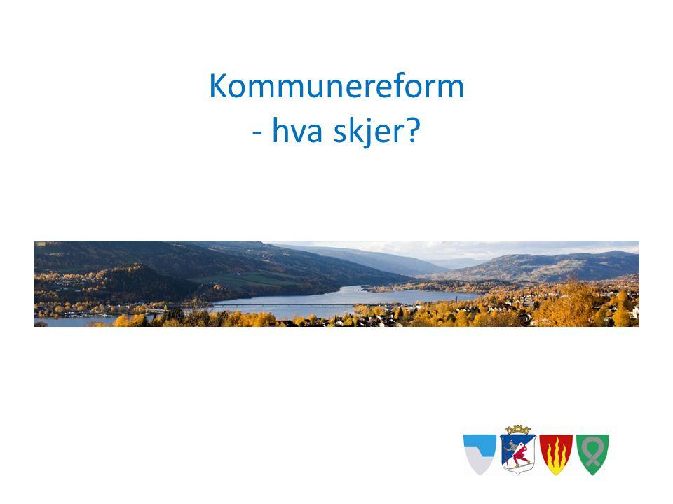 Kommunereform - hva skjer?