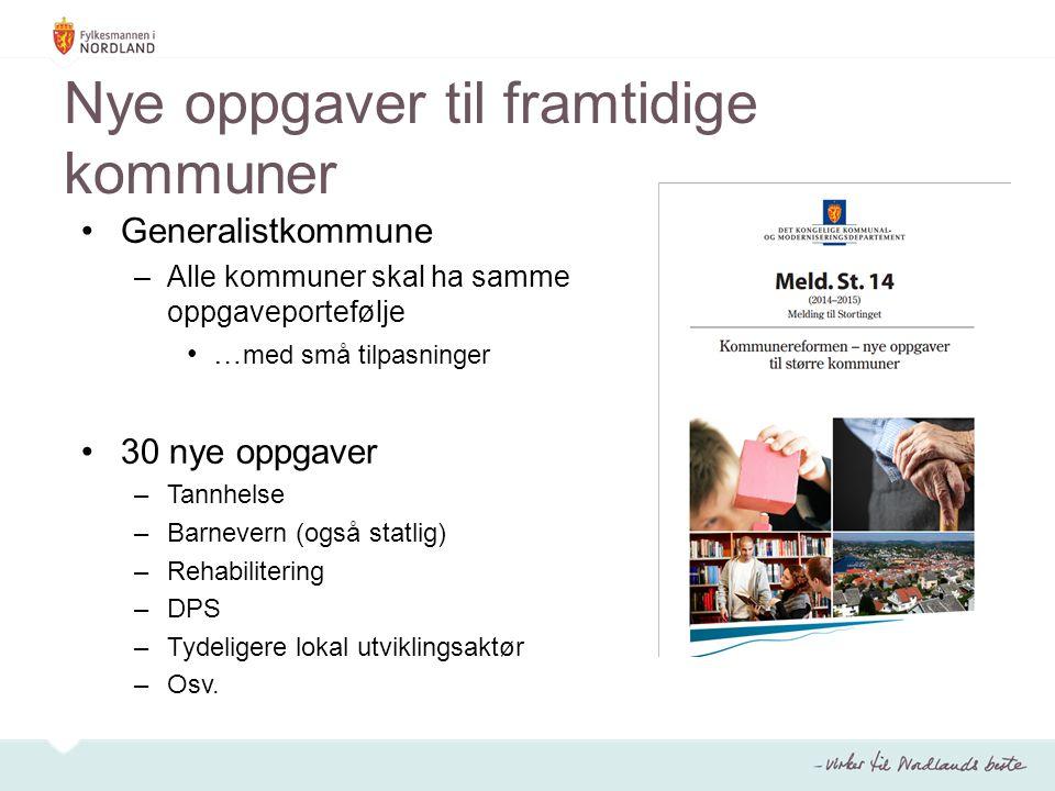 Status Nordland april 2015 43 av 44 kommuner utreder alternativer for ny kommune Parallelle prosesser og flere sammenslåingsalternativer Reduksjon av antall alternativer fram mot sommeren 2015 Stor aktivitet med innbyggerinvolvering