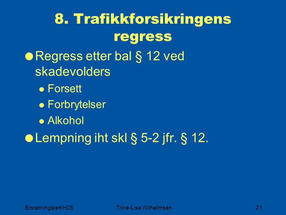 Erstatningsrett H05Trine-Lise Wilhelmsen21 8.