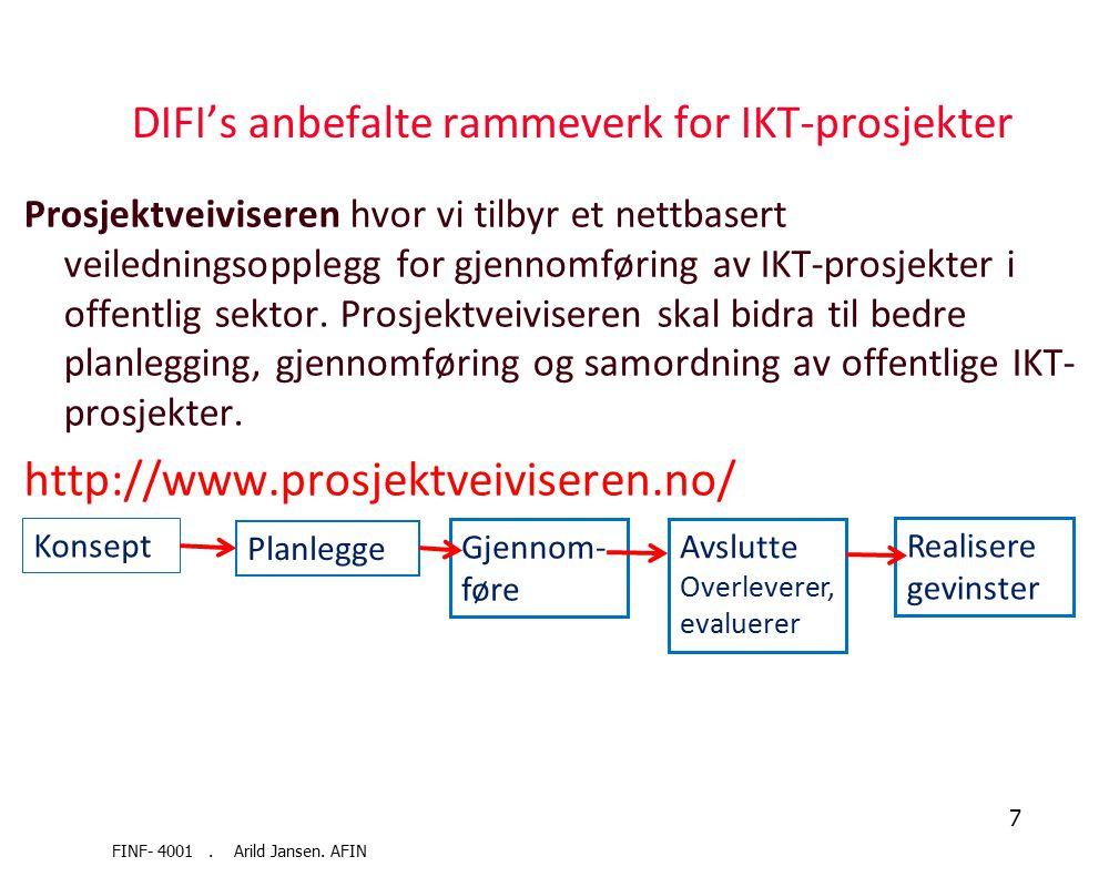 Felles IKT-arkitektur i offentlig sektor Prinsippene Tjenesteorientering Interoperabilitet Tilgjengelighet Sikkerhet Åpenhet Fleksibilitet Skalerbarhe