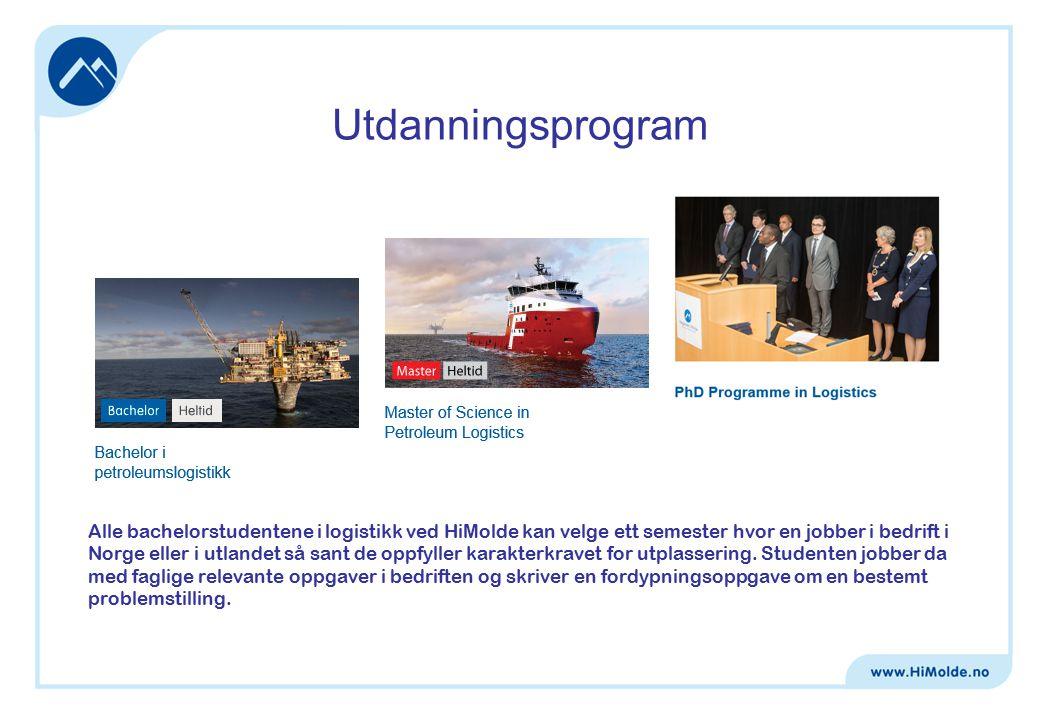 Alle bachelorstudentene i logistikk ved HiMolde kan velge ett semester hvor en jobber i bedrift i Norge eller i utlandet så sant de oppfyller karakterkravet for utplassering.