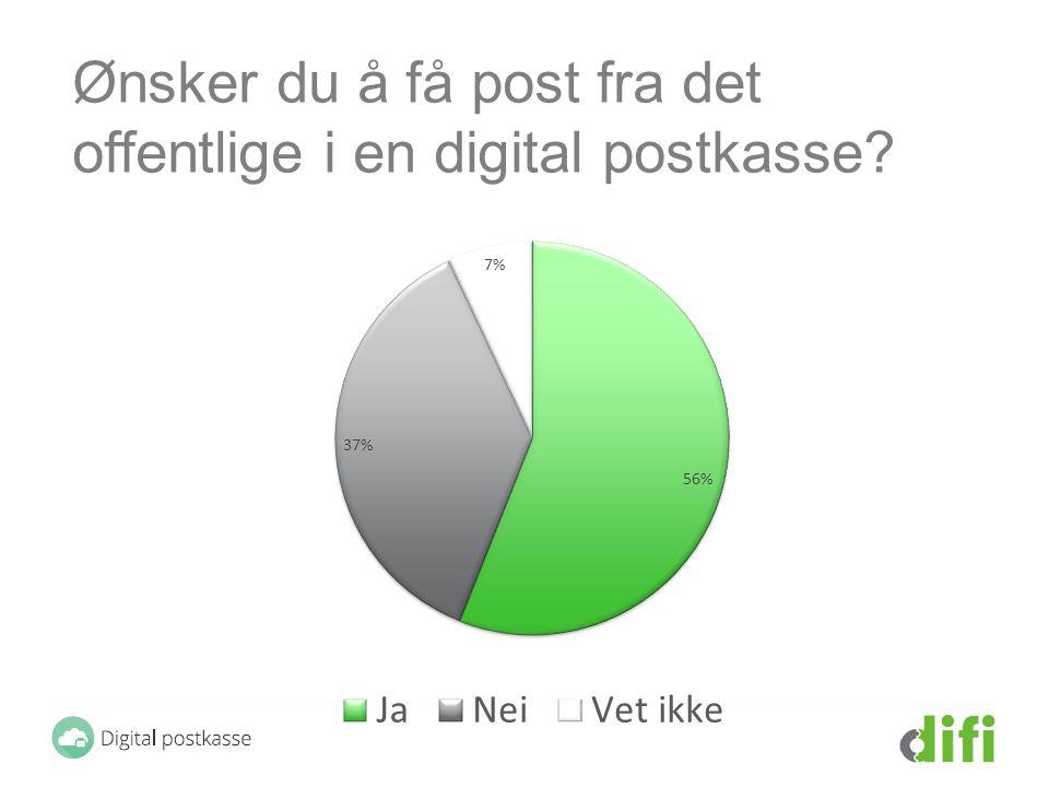 Ønsker du å få post fra det offentlige i en digital postkasse?