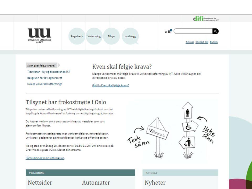 Tilsyn for universell utforming av IKT