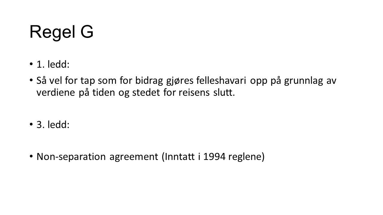 Regel G 1.