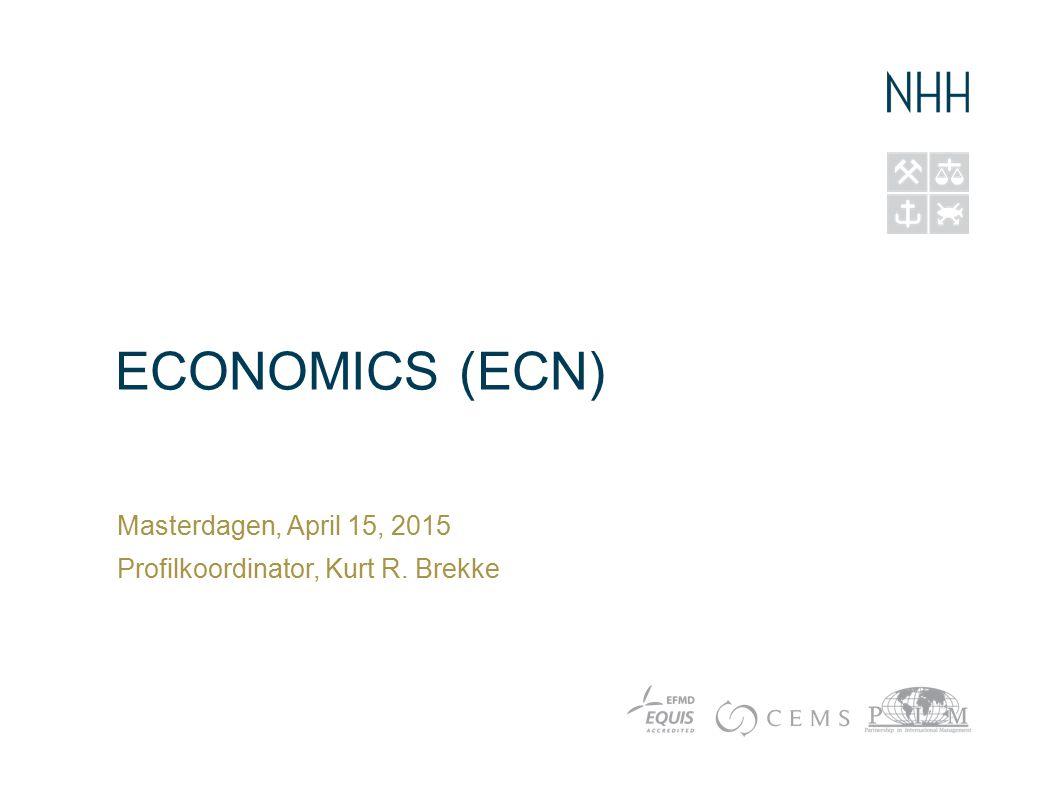 Hvorfor studere Economics.